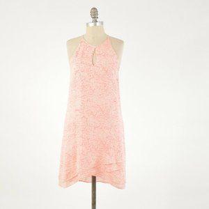 Parker Neon Pink Crackled Print Silk Shift Dress